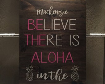 Believe there is Aloha in the world / be the aloha in the world