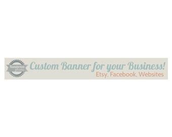 Digital Shop Banner Cover Image or Website Header Custom Made