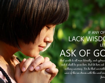 "2017 ""Ask of God"" POSTER - Prayer - Young Men/Women - LDS"