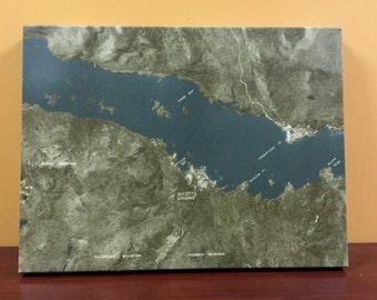 Hulett's Landing Map