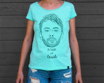 Men's and Women's T Shirt with Thom Yorke print