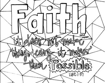 Faith Coloring Page PDF