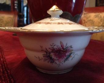 Thelma Black Knight Sugar Bowl and Lid