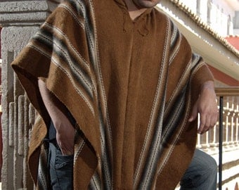 Gamboa Brown Alpaca Poncho