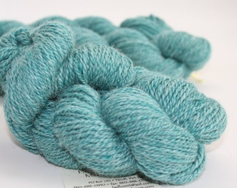 ALPACA SOCK YARN, Finger Weight, Blue, Blended with Superwash Merino and Nylon, 200 yds, 2.3 oz., Skeins