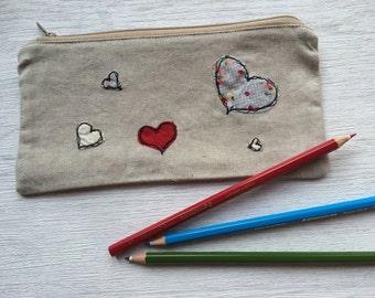 Handmade Heart Pencil Case