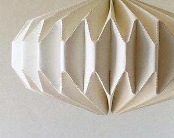 Linen Origami Saucer Pendant