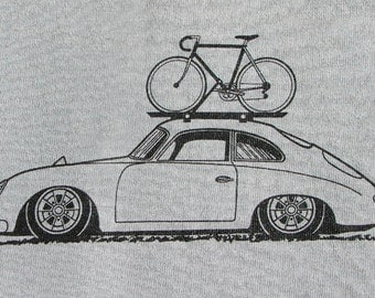 Bicycle T Shirt Bike with Porsche 356