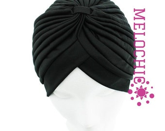 Black Turban Hat, Chemo Hat, Hair Loss Hat, Head Wrap, Women Turban Hat, Fashion Turban Hat, angelofzionTurban Hats, Turban, Hats