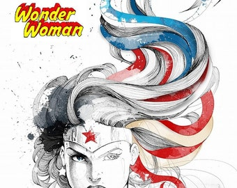 Wonder Woman # 11 - 8 x 10 - T Shirt Iron On Transfer