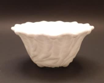 Indiana Glass Wild Rose Small Milk Glass Bowl