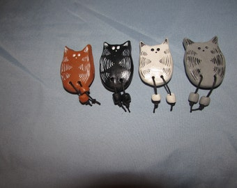 polymer clay cat magnets