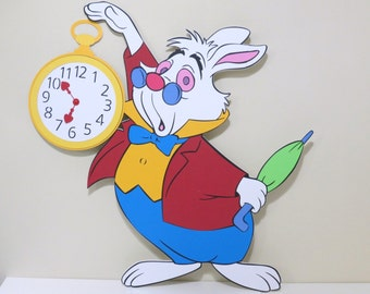 Alice in Wonderland White Rabbit with Watch - Foam Core