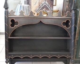 Gothic Wooden Wall Shelf