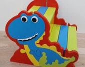 Kids Wooden Step Stool, Two Step Stool, Dinosaur Stool, Personalized Step Stool, Children's Stool, Potty Training, Toddler Bathroom