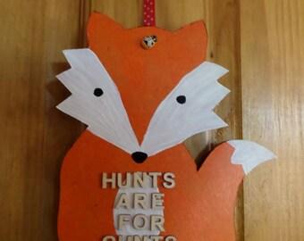 Hanging Fox anti hunt decoration