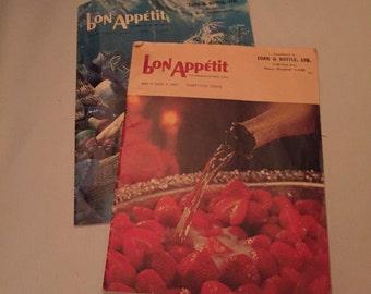 Vintage Bon Appetite magazines (set of 2)