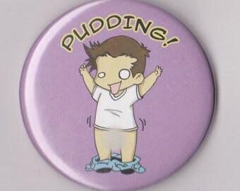 "Supernatural Button 'PUDDING!', 2.25"" Pinback Button, Dean Winchester"