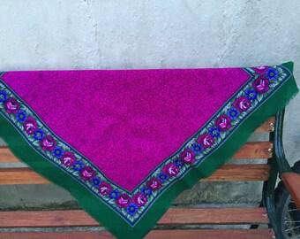 Vintage pink neck scarf /bandana