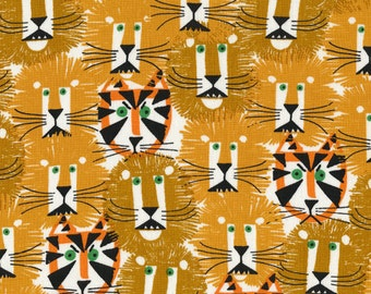 Lions and Tigers, Ed Emberley Happy Drawing Collection, Cloud 9 Fabrics, 100% OE100-certified organic cotton, 1 yard
