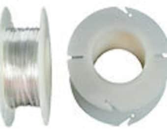 Silver wire, 24 gauge, sterling silver wire, SPOOL, DEAD SOFT, 49 feet.