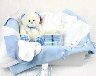 Blue bed time pals baby gift hamper
