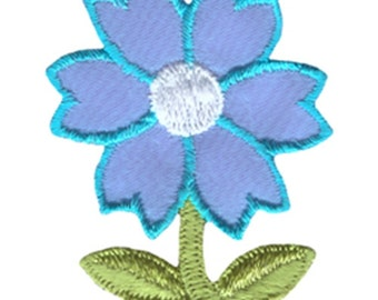 """2 1/2"""" by 2"""" Iron On Turquoise Flower Applique Sew On Patch Craft Supplies w/ Free Shipping"""