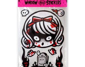 Window Clings/ Horror Girl