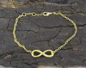 Infinity Infinity Bracelet Gold Plated