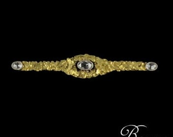 Old PIN 3 diamond 18K Yellow Gold 19th