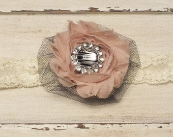 Aubrey Shabby Chic Headband - Toddler