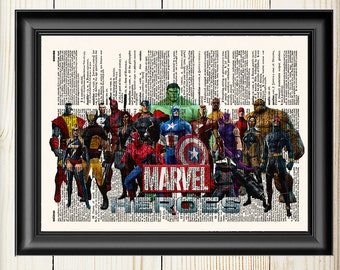Superieur Marvel Wall Art, Avengers, Thor, Captain America, Hulk, Iron Man,