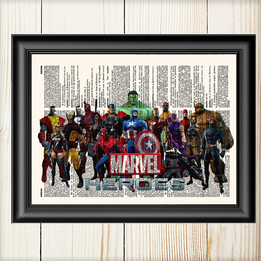 Marvel Wall Art Avengers Thor Captain America Hulk Iron