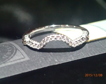 18 K White Gold Wedding Band With Yellow Gold Accents Verragio Style(Match 100-398)