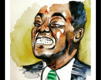 Louis Armstrong Watercolor Print