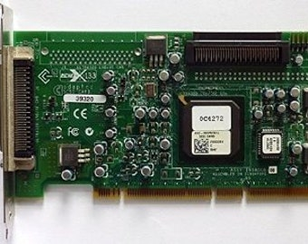 Adaptec 39320 SCSI Card with terminated two device cable and manual