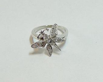 "14K Vintage ""CONVERSATION""  Diamond Butterfly Ring"