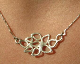 Delicate Silver Lace Necklace