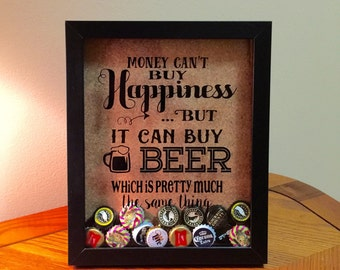 Beer bottle caps etsy for Beer bottle picture frame
