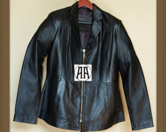 Laurie: Light weight, Full grain Calf Skin Leather Jacket for Women