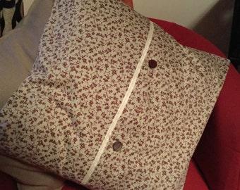 Laura Ashley Handmade Cushion Cover, Brown on Sand