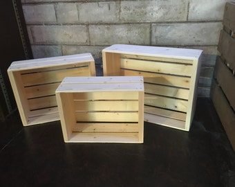 Decorative Wood Crates (Set of 3) - FREE SHIPPING