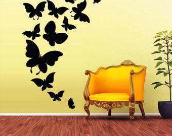 rvz1934 Wall Vinyl Sticker Bedroom Decal Butterflys Summer