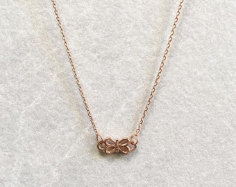 SALE ~ Bow Necklace ~ Silver/Gold/RoseGold