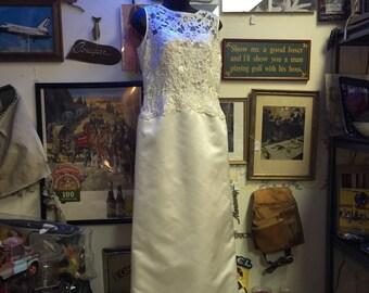 Wedding, Wedding dress, Vintage,bridal, gown,new,separate train bride white