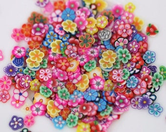 fimo slices, mix flower fimo slices,  nail art, 1000pcs,