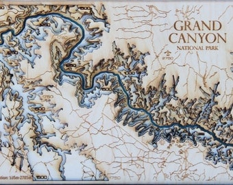 Mini Grand Canyon 3D Wooden Map