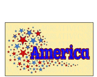 America stars 4th of July  SVG Cut file  Cricut explore file t-shirt designscrapbook vinyl decal wood sign t shirt cricut cameo