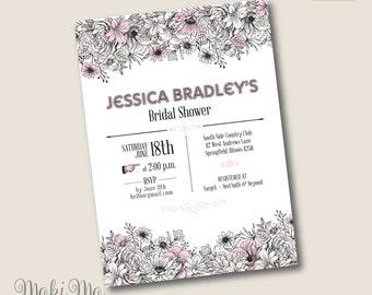 "Bridal Shower Invitation 5""x7"""