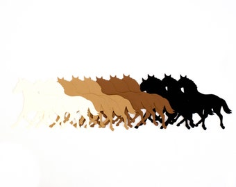 Horse die cuts, animal die cuts, scrapbooking dies